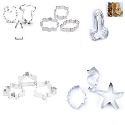 3pcs/set 3D DIY Stainless Steel Fondant Biscuit Cutter Pastry Cookie Baking Mold