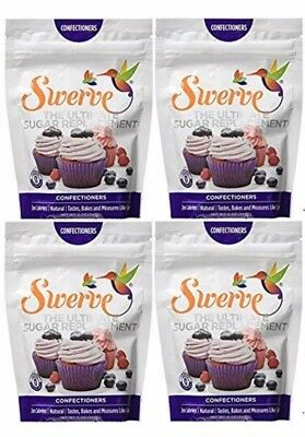 Swerve Sweetener Confectioners 4 Pack -12 oz bags The Ultimate Sugar Replacement
