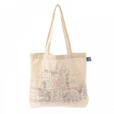 New Disney Store Japan Tote Bag Toy Story Cotton Pixar Collection From Japan F/S