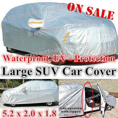 Large SUV Aluminum Car Cover Outdoor WaterProof Rain SnowSun Dust Brid Protect