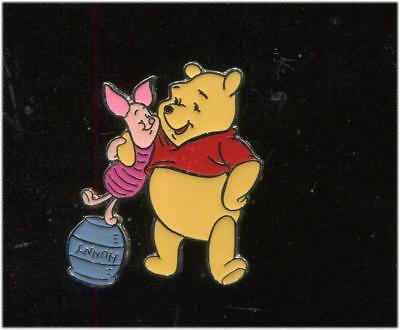 Winnie the Pooh with Piglet Standing on Hunny Pot Disney Pin 3192