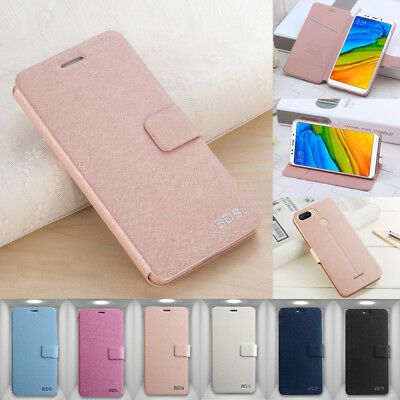 For Xiaomi Redmi 5/6A/6 Pro Plus Luxury Flip Leather Wallet Magnetic Cover Case