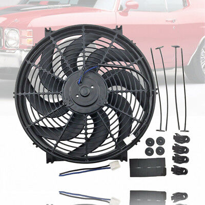 "14"" Heavy Duty Radiator Electric Wide Curved Blade Cooling FAN 3000 CFM"