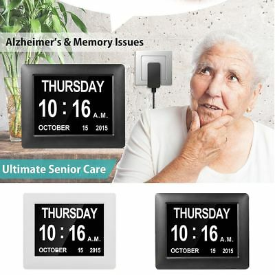 Extra Large Digital Calendar Day Alarm Clock for Dementia Alzheimer Memory Loss