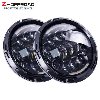 7inch LED Projector Headlamps Headlights for Jeep Wrangler Hummer H1 (2pcs)