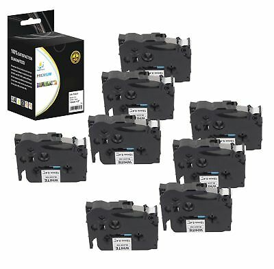 8PK Replacement TZe231 Black on White 1/2in 26.2ft Label Tape for Brother Ptouch