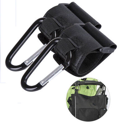 2x Universal Mummy Buggy Clip Pushchair Shopping Bag Pram Stroller Hook Holder