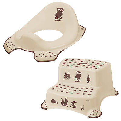 Keeeper 2-teiliges Set FOREST Schemel zweistufig & Toilettensitz beige TOP