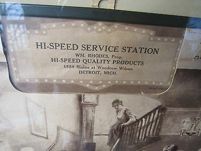 Original 1937 Hi-Speed Gas And Oil Service Station Advertising Calendar