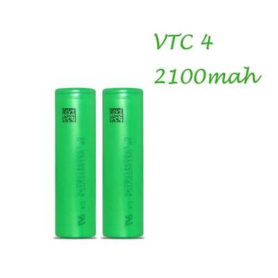 2Pcs 2100mAh 18650 VTC4 High Drain Replacement Battery For Sony VTC4 Batteries