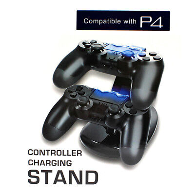 Dual USB Controller Charger Charging Stand Station Dock for PS4 Dualshock LED HF