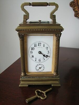 Tiffany & Co Antique French Striking Repeater Carriage Clock With Alarm