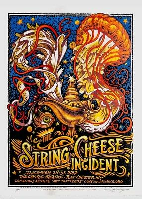 AJ Masthay String Cheese Incident Capitol Theater NYE 2018 Bottleneck S/N ××/30