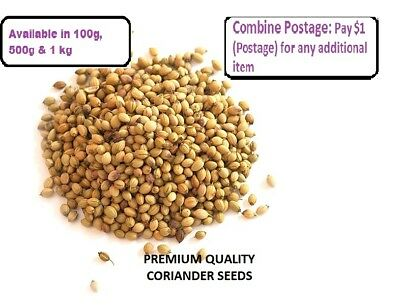 CORIANDER SEEDS WHOLE - CATERING PREMIUM QUALITY HERBS & SPICE 100 g - 1 kg