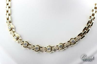 Diamant Brillant Collier Kette in aus 585 er 14k Gold mit Diamanten Brilliant