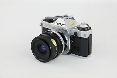 Vintage CANON AE-1 Program 35mm SLR Camera w/ Tamron Adaptall f2.5 28mm Lens