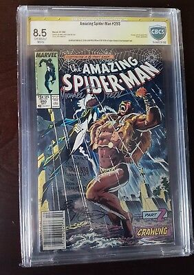 Amazing Spider-Man 293 & 362 Lot. CBCS SS 8.5 Signed by Zeck/McLeod/Emberlin