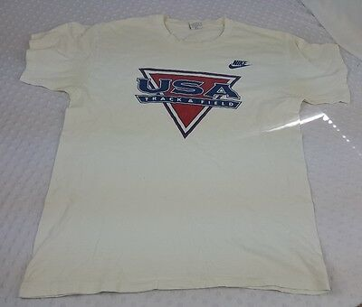 Vintage Rare 90's Nike USA Track And Field T-shirt 1992 New Orleans Size XL