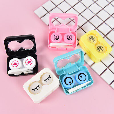 Outdoor Cute Travel Portable Contact Lens Storage Box Holder Organizer Kit