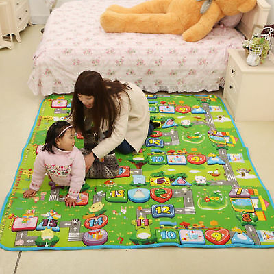 Extra Large Kids Crawling 2 Side Soft Foam Educational Game Play Mat Carpet
