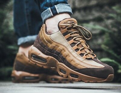 hot sales b7819 fa8e6 NIKE AIR MAX 95 PREMIUM Baroque Brown 538416-203 Size UK 8 EU