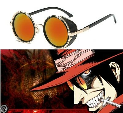 Alucard Vampire Hunter Orange Sunglasses from HELLSING Anime Glasses Cosplay
