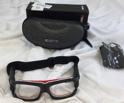 NWT Rocknight Adult Sport Goggles, Black/Red/White, One Size (BS)
