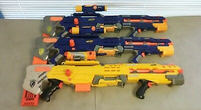 Lot of 3 Nerf Longshot CS-6 w/ Scopes Sniper Rifle Guns Dart Tag Long Shot