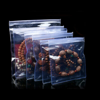 Clear Anti-oxidation PVC Plastic Zip Lock Bags Storing Pouch Jewelry Packaging