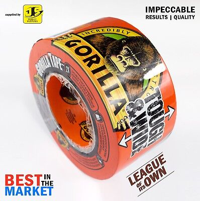GORILLA TAPE 27m x 73mm EXTRA WIDE TOUGH/STRONG DUCT/DUCK/GAFFER BLACK GRGTTW