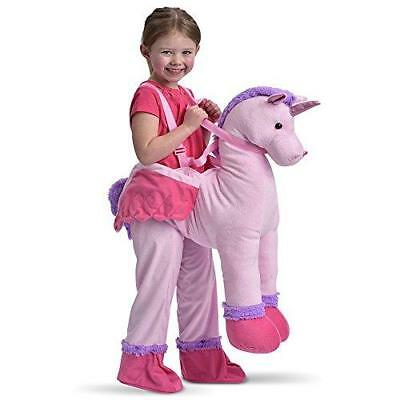 New Childrens Dress Up Unicorn Ride On Fancy Dress Costume 3-7 Years