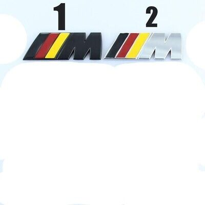 2 x M Sport Small Emblem M Power Badge Metal Chrome for BMW Wing Sticker side