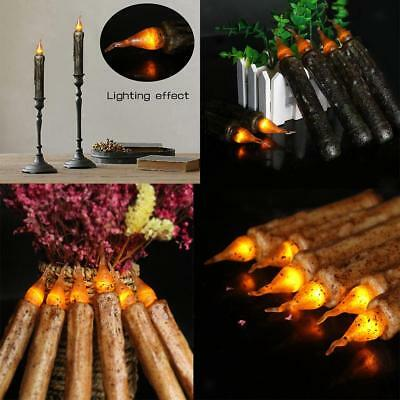 12PCS Battery Flameless Led Candle Flickering Decorative Dinner/Taper Candles