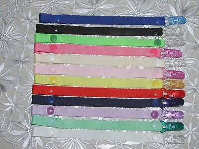Dummies Clips ,Holder/Dummy/Soother/Pacifier/chain (BOYS and girls )plain colour