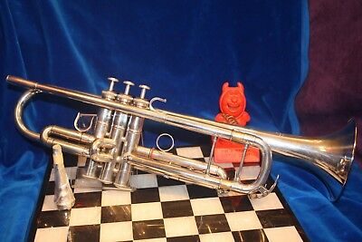 Yamaha 6335 HGS II Bb SIlverplated Bb Trumpet, Mid 1990's Heavy Wall Gold Bell