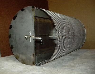 40 Lb Capacity Coffee Roaster Drum for 55gal Barrel Roasts Peanuts Chiles Cacao