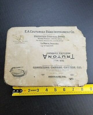 Litho Lithographic Antique Printing Stone Block Anderson Indiana LaPorte Ind