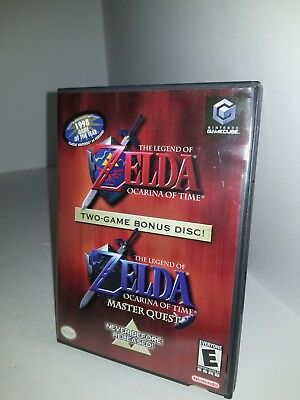 The legend of Zelda Ocarina of Time & Master Quest CIB Complete for Gamecube J33