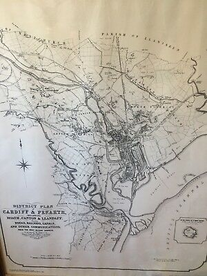 Railway map of Cardiff in 1869