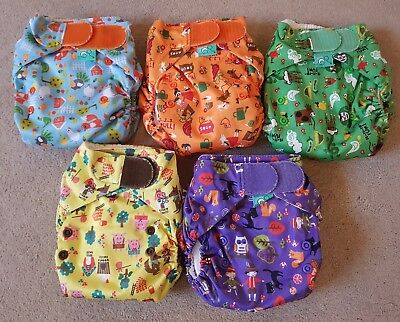 Tots Bots Easy fit storytime cloth nappy bundle