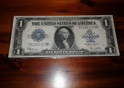 1923 $1 bill Silver Certificate Blue Seal United States Currency large note