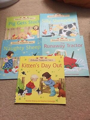 Usborne Farmyard Tales Early Readers x 5 Bundle of reading books for beginners