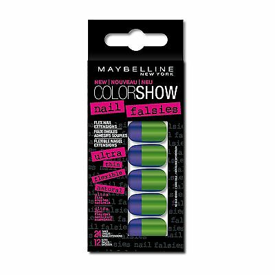 X 2 Maybelline Color Show Faux Ongles Adhesifs Souples X 24  N°8