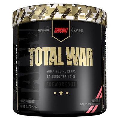 Redcon1 TOTAL WAR Pre-Workout Supplement 30 Servings Choose Flavor