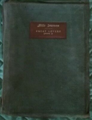 Antique Leather Book Roycroft Elbert Hubbard Little Journeys Great Lovers