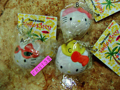 Lot of 3 Hello Kitty Cross Dressing Kawaii Squishy. Cute Squishies.  USA Seller!