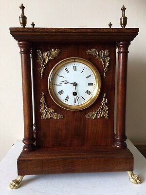 Stunning Mahogany Mantel Bracket Clock Superb Condition Working Order
