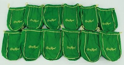 lot of 100 crown royal green gold felt drawstring bag bulk quilt fabric crafts