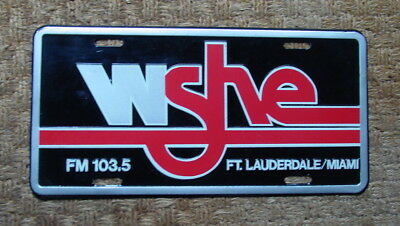 WSHE License plate radio 103.5 MIAMI, Fl Original 1970's Rock N roll Station