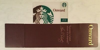 Starbucks 2010 Onward DISPLAY Card With Matching Sleeve LIMITED EDITION